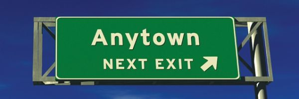 Freeway sign: Anytown Next Exit